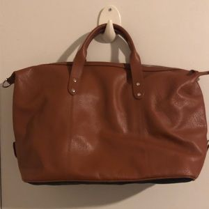 f71c27e701a Brand New Cole Haan cognac weekender leather bag